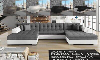 Ecksofa in U-Form Vera mit Schlaffunktion XXL-Sofa Wohnlandschaft Polsterecke online kaufen