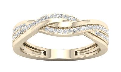 Tdw Diamond Promise Ring - 10k Yellow Gold 1/6ct TDW Diamond Promise Ring