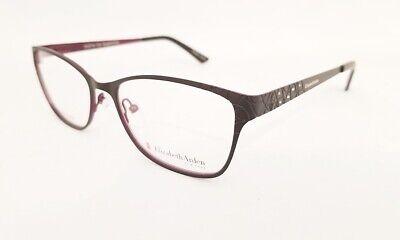 ELIZABETH ARDEN EA 1156 eyeglasses frame Top Matte Black on Purple 53mm Cat Eye