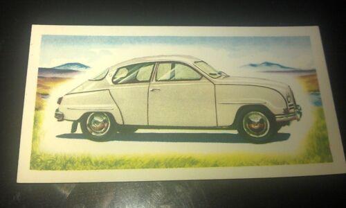 1963 SAAB 96  Orig Priory Tea I SPY Trade Card UK