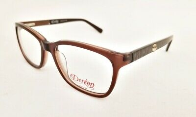 DEREON Eyewear DOC 326 eyeglasses Frame 210 Brown WOMEN 53mm Designer (Doc Brown Glasses)