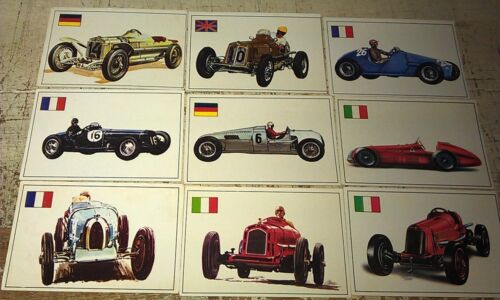 RACING CARS - Famous Cars by Top Sellers Ltd UK Trade Cards RARE