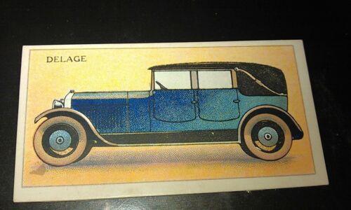 1928 DELAGE  United Tobacco Co. South Africa Cigarette Card RARE