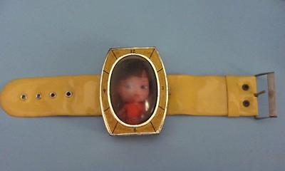 VINTAGE 1960'S LIDDLE KIDDLE CLONE YELLOW WRIST WATCH
