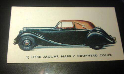 1949 JAGUAR Mk V Drophead  Orig Kelloggs Colour Swap Card