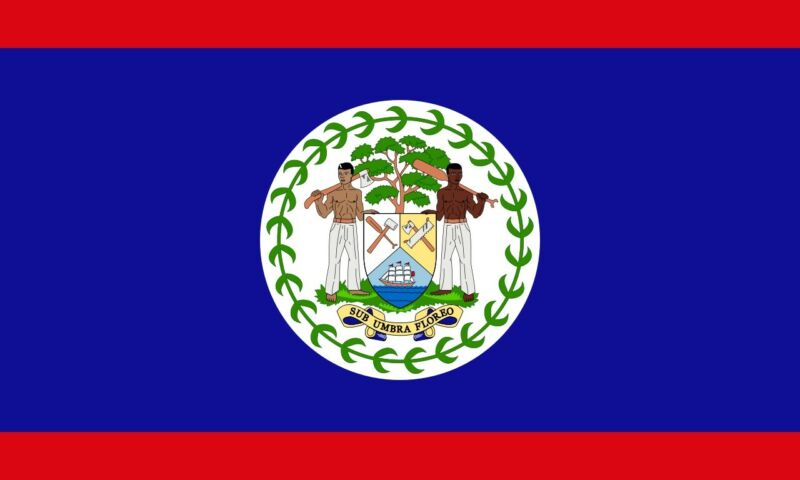 The flag of Belize, Coat of Arms, Blue field red stripes 3 X 5 ft, BRAND NEW !