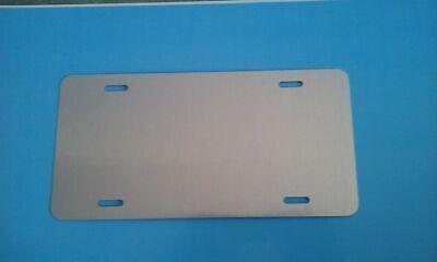 Clear Gloss Aluminum Dye Sublimation License Plate Blanks- 6 X 12 20pcs