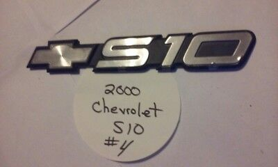2000 Chevrolet S10 Pickup Truck Door OEM Emblem - #4 - used