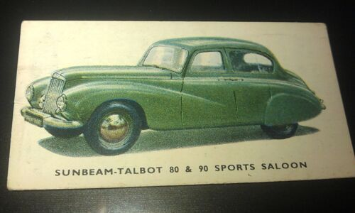 1949 SUNBEAM TALBOT Sports Saloon  Orig Kelloggs Colour Swap Card