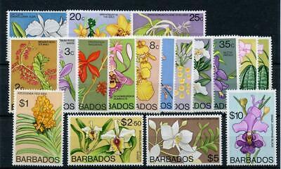 Barbados 1974 Orchids set SG485/500 fine MLH