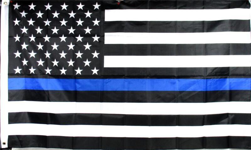 Thin Blue Line American Police Flag 3