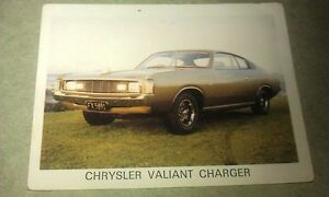 1972-CHRYSLER-VALIANT-VH-CHARGER-WEETBIX-New-Zealand-Swap-Card