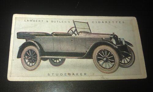 1922 STUDEBAKER Light Six  Touring Car Lambert & Butler UK Cigarette Card