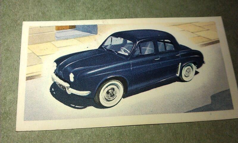 1959 RENAULT DAUPHINE  Orig Priory Tea I SPY Trade Card UK