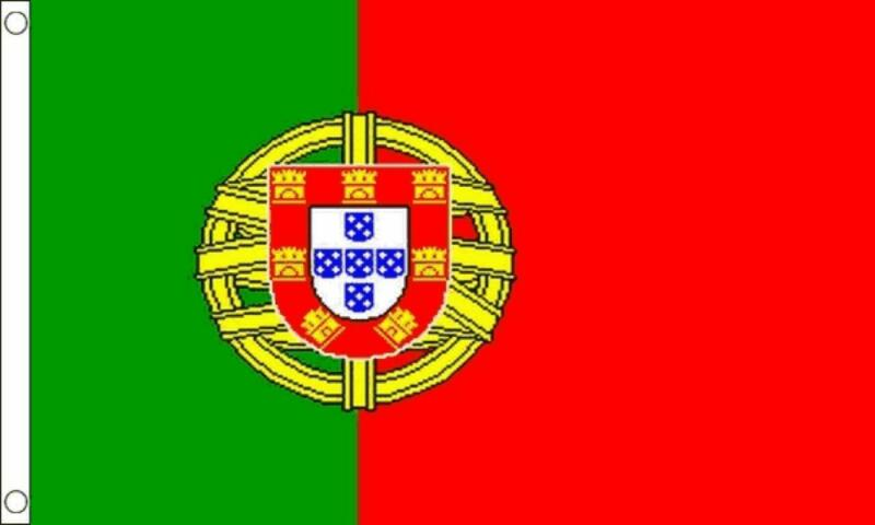 PORTUGAL ( PORTUGUESE ) FLAG 5ft X 3ft