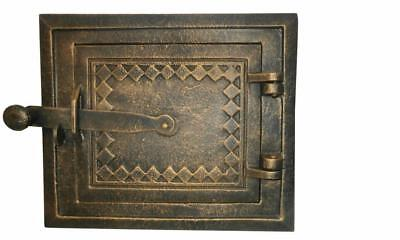Cast Iron Fire Door Clay Bread Oven Pizza Stove Quality OLD Gold (KK) 25 x 22cm