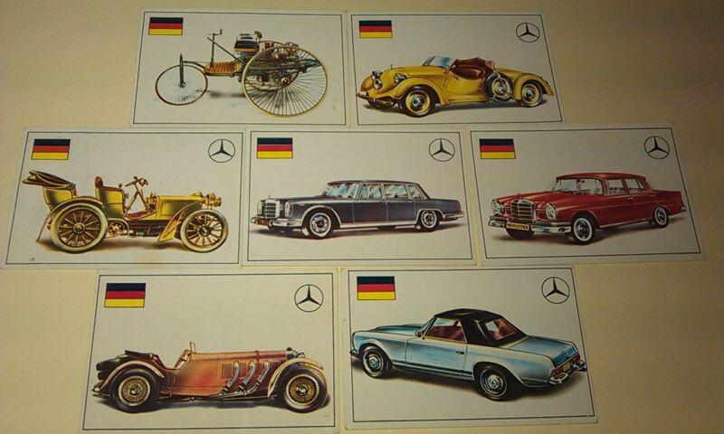 MERCEDES BENZ - Famous Cars by Top Sellers Ltd UK Trade Cards RARE - 280SL , 600