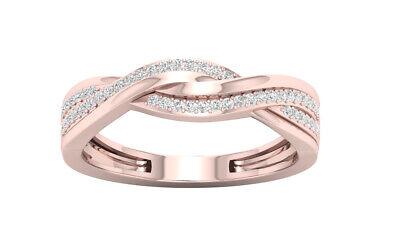 Tdw Diamond Promise Ring - 10k Rose Gold 1/6ct TDW Diamond Promise Ring