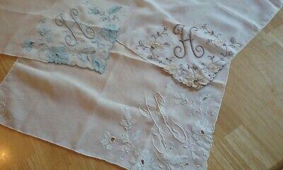 Monogram Initial Embroidered Handkerchief Hankies Hanky100/%  COTTON Giftable Box