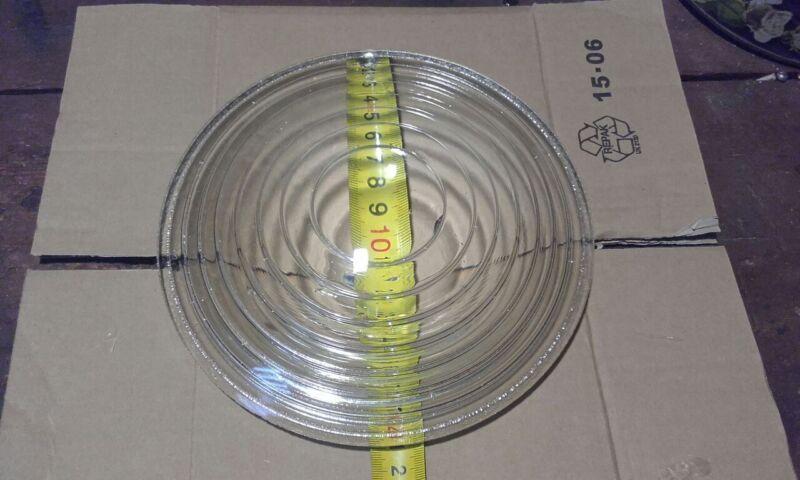 """Optic glass Fresnel lens 8.3""""  210 mm"""