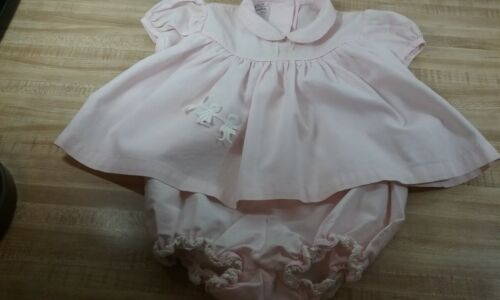 Vintage Baby Girl Dress And Bloomers Set Fawn Fashions