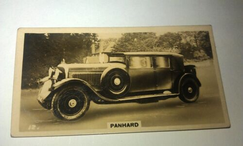 PANHARD -   Wills New Zealand Real Photo Cigarette Card Issued 1926