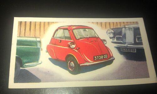 1963 BMW ISETTA  Orig Priory Tea I SPY Trade Card UK