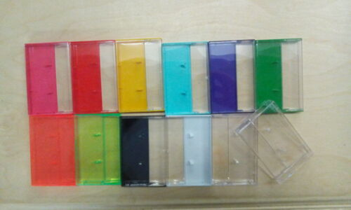 NEW Audio Cassette Cases - Lot of 50 - MIXED COLORS!