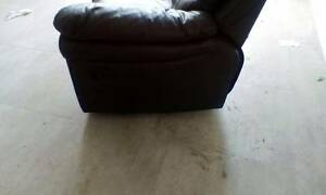 3 seater leather recliner - minor wear Sydenham Marrickville Area Preview