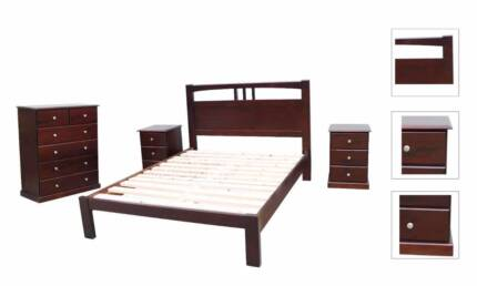 Brand New NZ Pine Timber Bed Frame in Queen/Double/Single