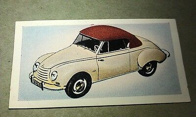 1954 AUTO UNION DKW   Orig Cadet Cigarette Card UK