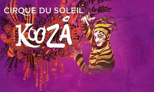 kooza ,cirque du soleil ,friday 2 tiickets Innaloo Stirling Area Preview