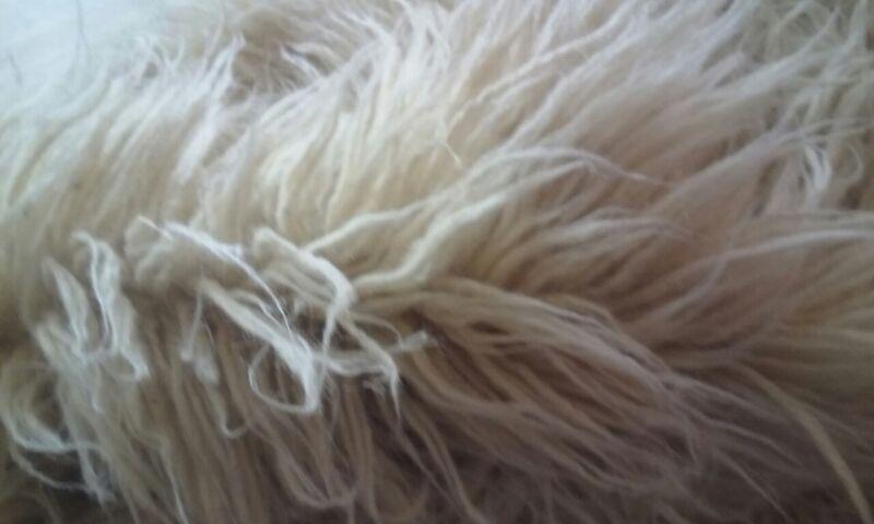 5 inches LONG  FUR 5000 Grams FLOKATI 100% ORGANIC WOOL RUG Long Fur 5' x 7'