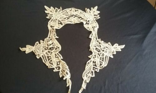 Antique Battenburg Handmade Lace Collar / Dress Front