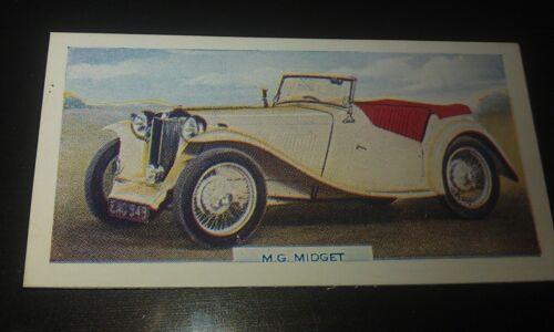 1949 MG TC Sports Car  Orig  Colour Swap Card UK