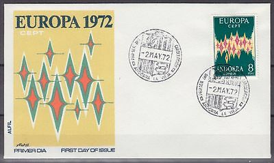 Andorra Spanisch 1972 Mi.Nr. 71 Europa-Ceot FDC Michel 120,-- €