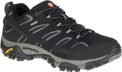 Merrell Moab 2 GTX Mens Walking Shoes Black Gore-Tex Waterproof Hiking (Merrell Moab Gore Tex Waterproof Walking Shoes)