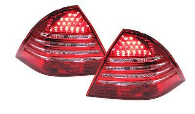 Red Clear LED tail lights rear lights for Mercedes C class W203 04-07