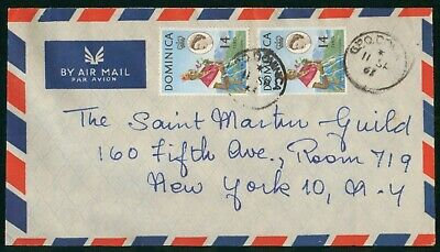 MayfairStamps Dominica 1960s to New York New York Air Mail Cover wwo30535