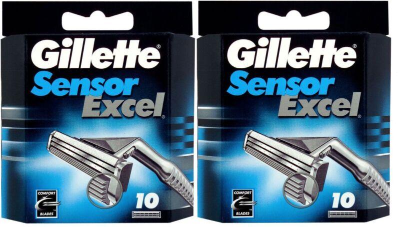 Gillette Sensor Excel Razor Blades - 20 Cartridges