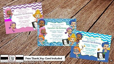 Bubble Guppies Birthday Party Invitation Printable Photo Invitations DIY Guppies - Minnie Mouse Invitations Diy