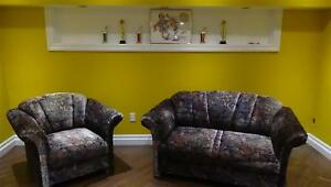 Comfy Loveseat & Soft Chair Set for Sale