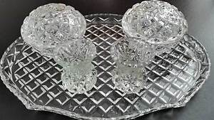 Crystal Dressing Table/Duchess Set - Tray & Vases & Trinket Bowls Redcliffe Redcliffe Area Preview