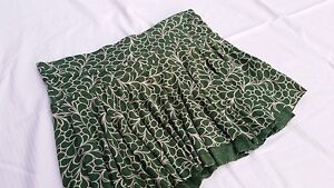 New Topshop Green Flippy Rara Mini Skirt 60S 70S 80S Size 10 - May Also Fit 12