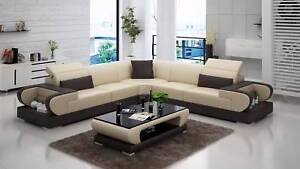 Modern Corner Lounge, Genuine Leather, Starts from $2899