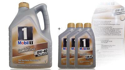 Mobil 1 FS (ersetzt NEW LIFE) 0W-40 Motoröl MERCEDES VW PORSCHE  3x1 +1x5 Liter