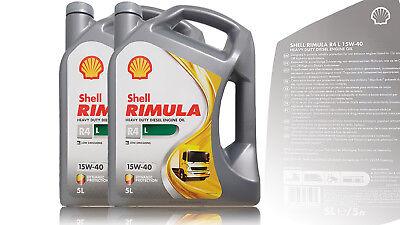 Shell Rimula R4 L 15W-40, Contenido: 2x5 Litro,Diesel, Man, Volvo Aceite