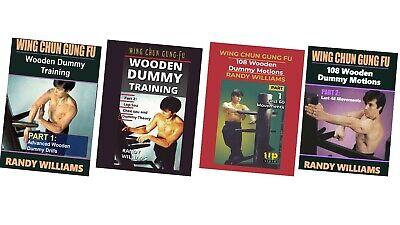 4 DVD Set Randy Williams Wing Chun Wooden Dummy chinese kung fu training