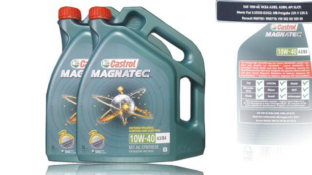 2x5 LITER CASTROL MAGNATEC 10W-40 A3/B4  MOTORENÖL VW 501 01/505 00