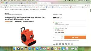 Portable fan $100. Retail for $300.